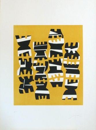 Lithographie Capogrossi - Quarzo n°8