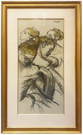 Collographie Degas - QUATRE BALLERINES (1898)