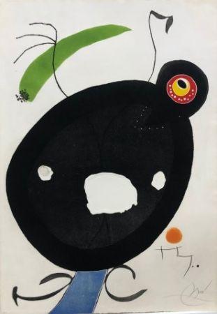 Eau-Forte Et Aquatinte Miró - Quatre Colors acarien El Mon IV