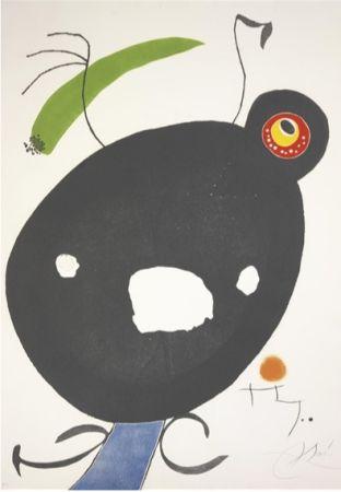 Eau-Forte Et Aquatinte Miró - Quatre Colors Aparien El Món, Plate Ii