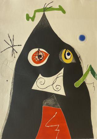 Eau-Forte Et Aquatinte Miró - Quatre Colors Aparien El Mon I (Four Colors will Beat the World I)