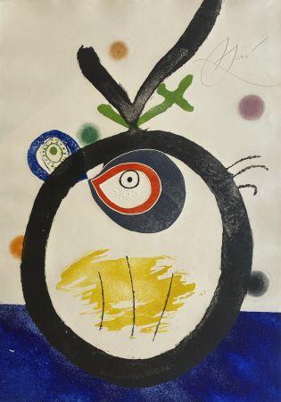 Eau-Forte Et Aquatinte Miró - Quatre Colors Aparien El Mon II (Four Colors will Beat the World II)