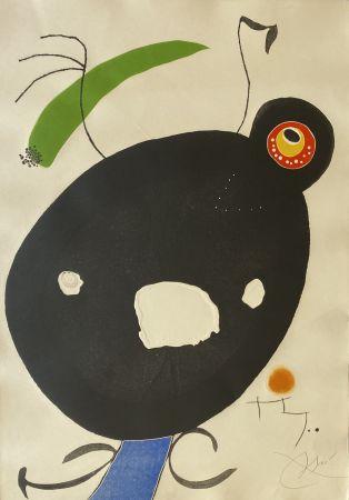 Eau-Forte Et Aquatinte Miró - Quatre Colors Aparien El Mon IV (Four Colors will Beat the World IV)