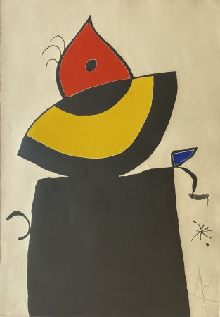 Eau-Forte Et Aquatinte Miró - Quatre Colors Aparien El Mon V (Four Colors will Beat the World V)