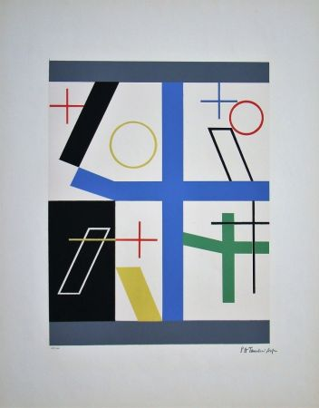 Sérigraphie Taeuber-Arp - Quatre espaces à croix brisée