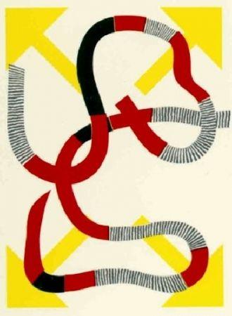 Lithographie Sugai - Quatre flèches