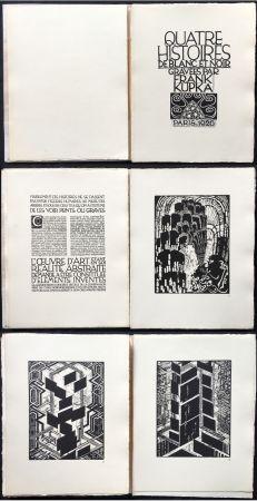 Livre Illustré Kupka - Quatre histoires de blanc et de noir (1926).