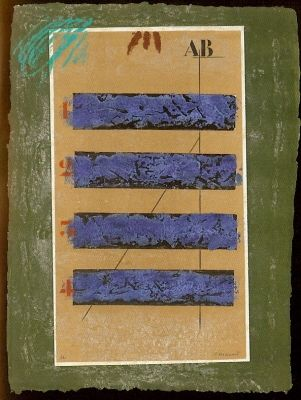 Gravure Coignard - Quatre Horizontales
