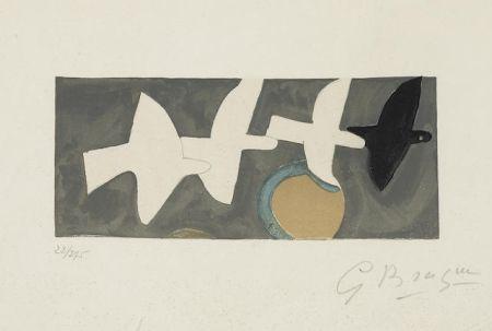 Lithographie Braque - Quatre Oiseaux