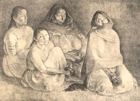Lithographie Zuniga - Quattro Mujeres