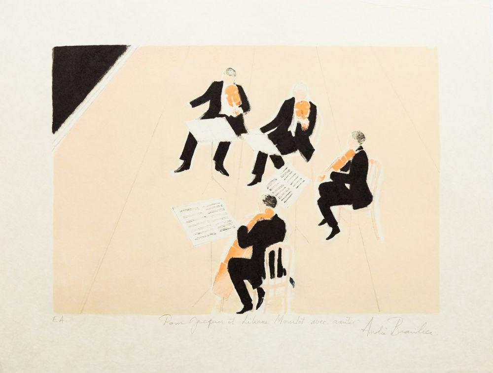 Lithographie Brasilier - Quatuor