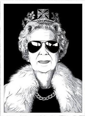 Lithographie Mr. Brainwash - Queen aviator