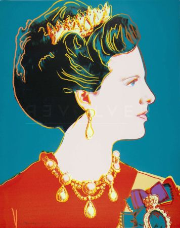 Sérigraphie Warhol - Queen Margrethe Ii Of Denmark (Fs Ii.343)