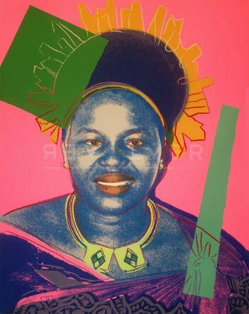 Sérigraphie Warhol - Queen Ntombi Twala Of Swaziland Tp (Fs Iib.346)