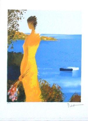 Lithographie Bellet - Quietude marine
