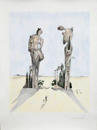 Eau-Forte Dali - Réminiscence Archéologique de l'Angélus de Millet (1983)