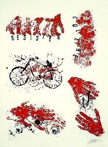Lithographie Arman - Résister Colère