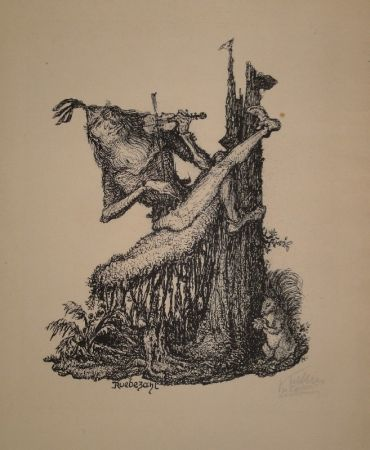 Lithographie Kubin - Rübezahl II