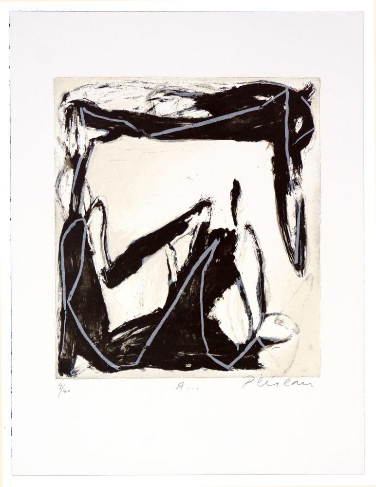 Lithographie Péneau - R