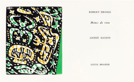 Livre Illustré Masson - R. Desnos: MINES DE RIEN. 4 gravures originales en couleurs (1957).