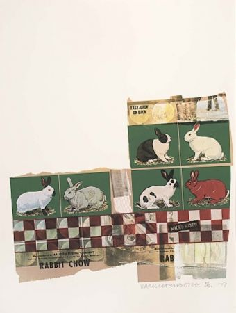 Sérigraphie Rauschenberg - Rabbit Chow, from Chow Bags