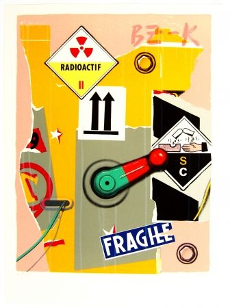Lithographie Klasen - Radioactif fragile