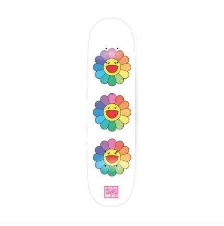 Aucune Technique Murakami - Rainbow Flower Skate Deck