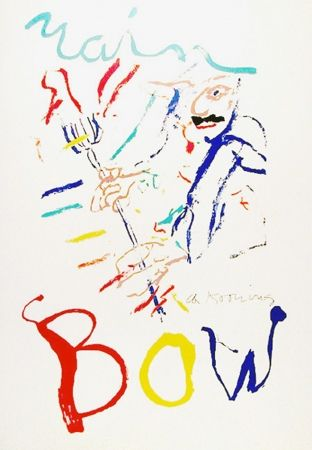 Lithographie De Kooning - Rainbow: Thelonius Monk, Devil at the Keyboard
