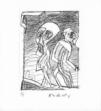 Gravure Alechinsky - RAINE (Jean). Poèmes à peine poèmes.