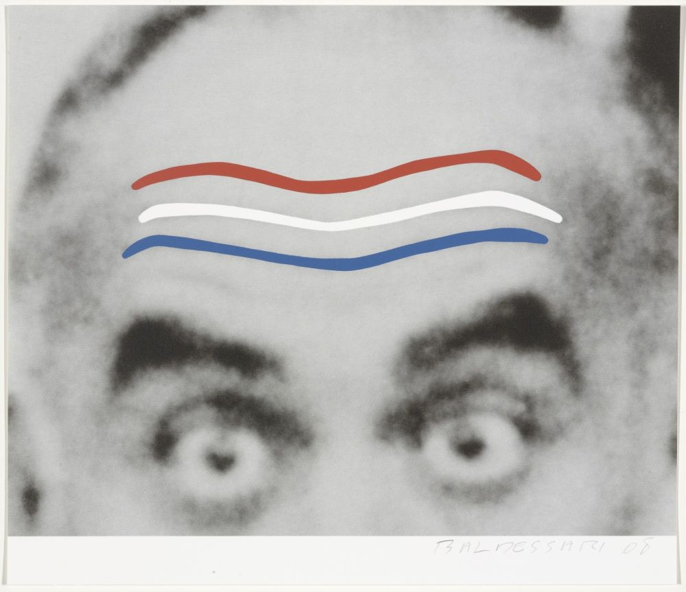 Sérigraphie Baldessari - Raised Eyebrows/Furrowed Foreheads (Red, White, and Blue) from Artists for Obama