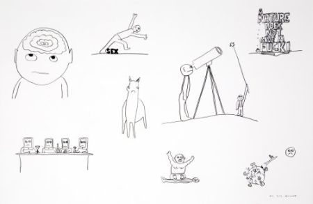Lithographie Breuning  - Random thoughts about life 2