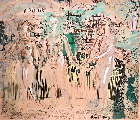 Lithographie Dufy - Raoul DUFY- Les Trois Grâces