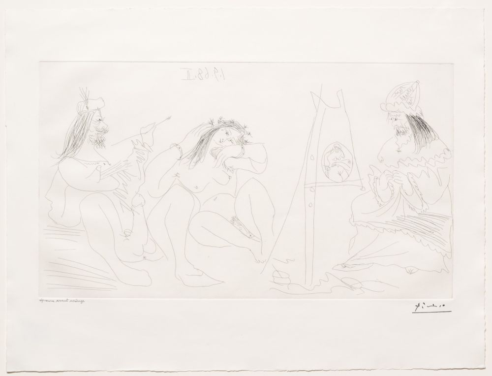 Gravure Picasso - Raphael et la Fornarina VII
