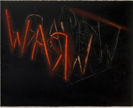 Lithographie Nauman - Raw War
