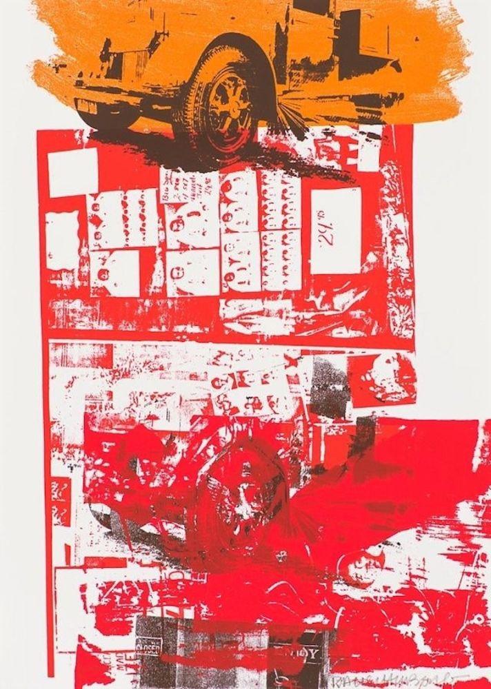 Sérigraphie Rauschenberg - Read Bleed