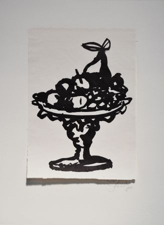 Linogravure Kentridge - Rebus Fruitbowl