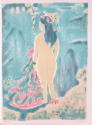 Lithographie Cavailles - Recitatif