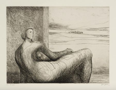 Eau-Forte Et Aquatinte Moore - Reclining Figure