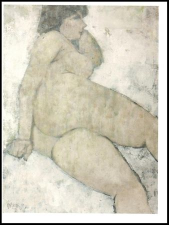 Lithographie Portway - Reclining Nude
