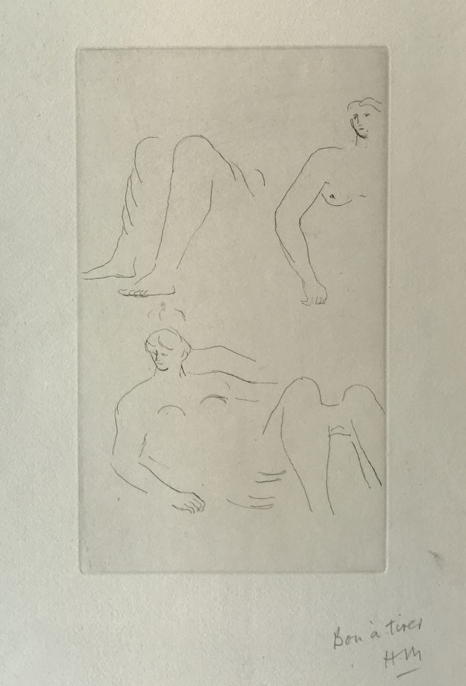 Gravure Moore - Reclining Nudes