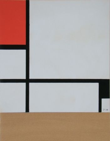 Pochoir Mondrian - Rectangular Composition