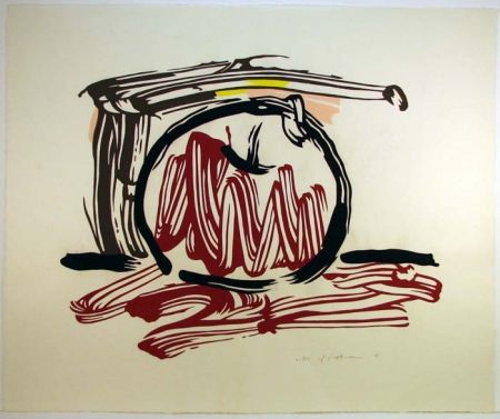 Gravure Sur Bois Lichtenstein - Red Apple