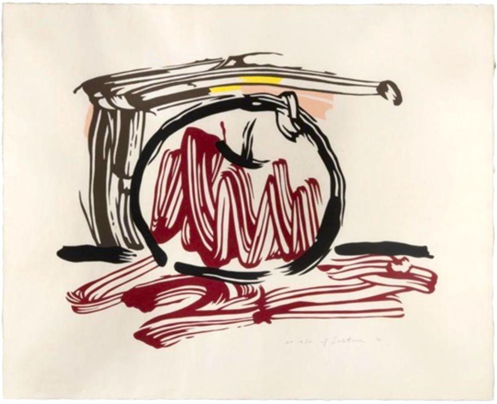 Gravure Sur Bois Lichtenstein - Red Apple, from Seven Apple Woodcuts Series (C. 196)