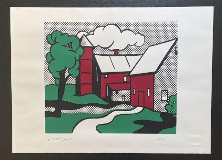 Sérigraphie Lichtenstein -  Red Barn
