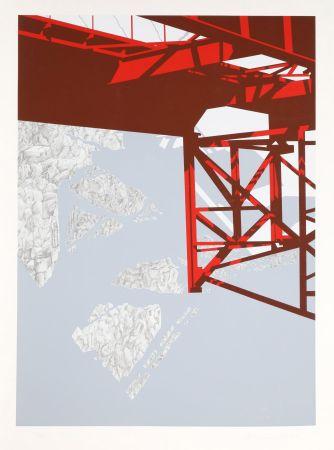Sérigraphie D'arcangelo - Red Bridge