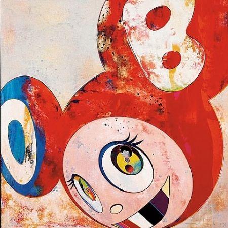 Estampe Numérique Murakami - Red dob with colored teeth