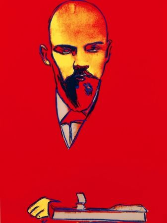 Sérigraphie Warhol - Red Lenin FS II.403