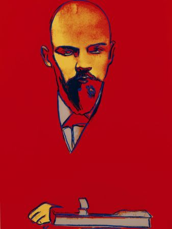 Sérigraphie Warhol - Red Lenin (FS II.403)