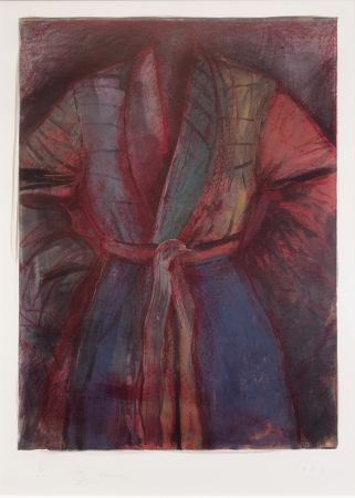Lithographie Dine - Red Robe in France
