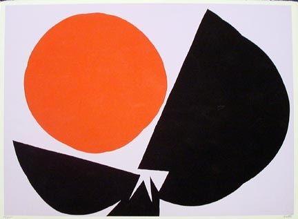 Sérigraphie Feito - Red Sun